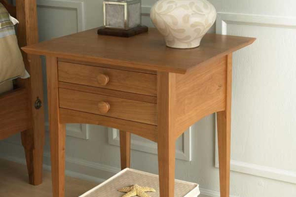 Pencil Post ShakerStyle Bed Nightstand Craftsman style