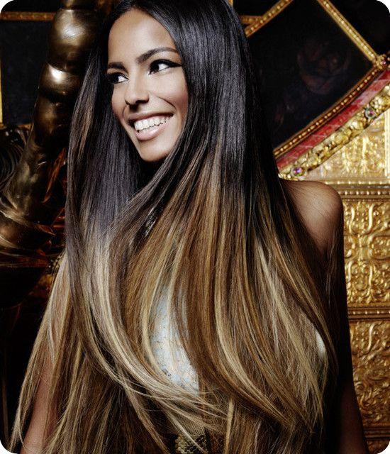 Dunkle Haare Helle Spitzen Natürliche Ombre Hair 2013 Hair
