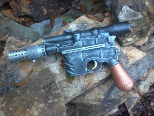 Han Solo DL-44 Blaster w/Sound Custom Hand Painted Star Wars Cosplay Prop