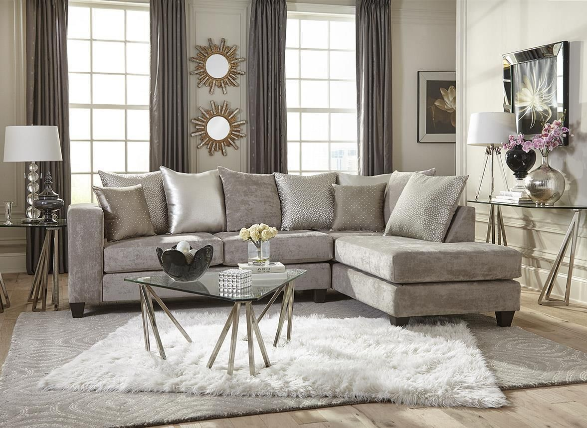 Delta Hollywood Glam Silver Sectional Sofa Living Room Sets Elegant Living Room Decor Elegant Living Room