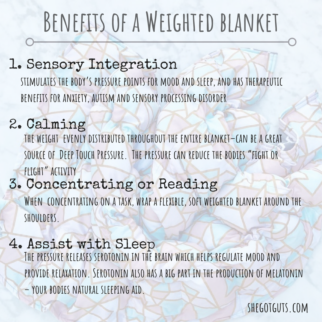 Weighted Blanket What Is It Why Is It So Good She Got Guts Weighted Blanket Benefits Body Pressure Points Weighted Blanket