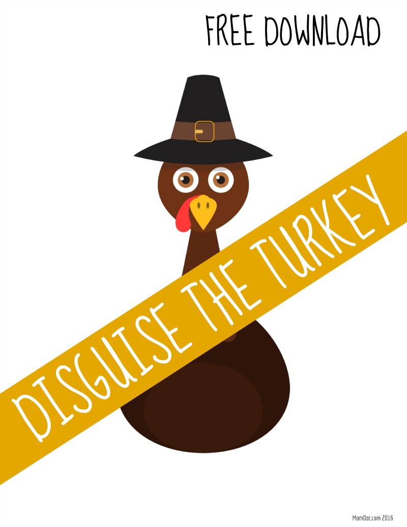 Turkey In Disguise Free Printable Template  Thanksgiving School
