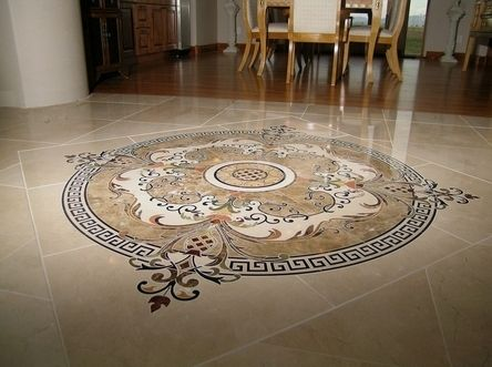 marbles and pin home dream pinterest stone floor medallion