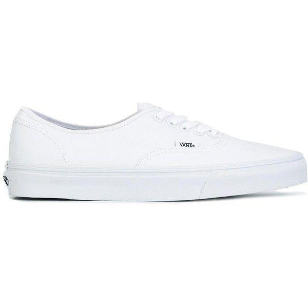 Vans 'Authentic' sneakers (170 BRL) ❤ liked on Polyvore featuring shoes, sneakers, shoes - sneakers, white, vans shoes, vans sneakers, unisex sneakers, white trainers and vans footwear