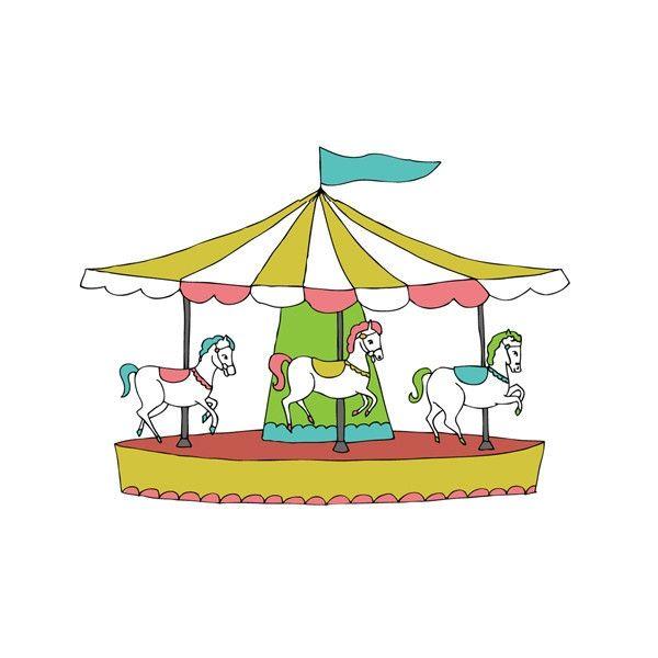 Carrousel Dessin tatouage éphémère carrousel | cadeaux à moins de 20€ | tatouage