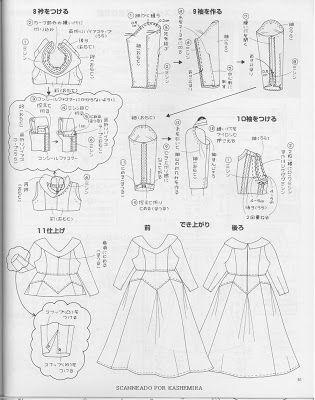 Disfraces de princesas disney con patrones