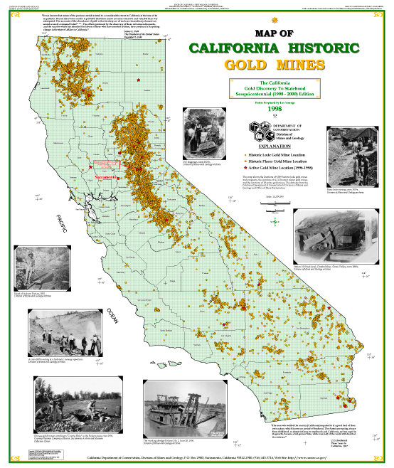 Gold In California Map timeline | Jana Remy | Gold prospecting, California gold rush