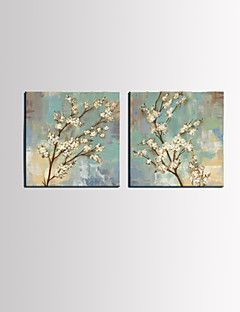 Stretched+Canvas+Art+Floral+White+Plum+Bloom+Set+of+2+–+USD+$+41.99