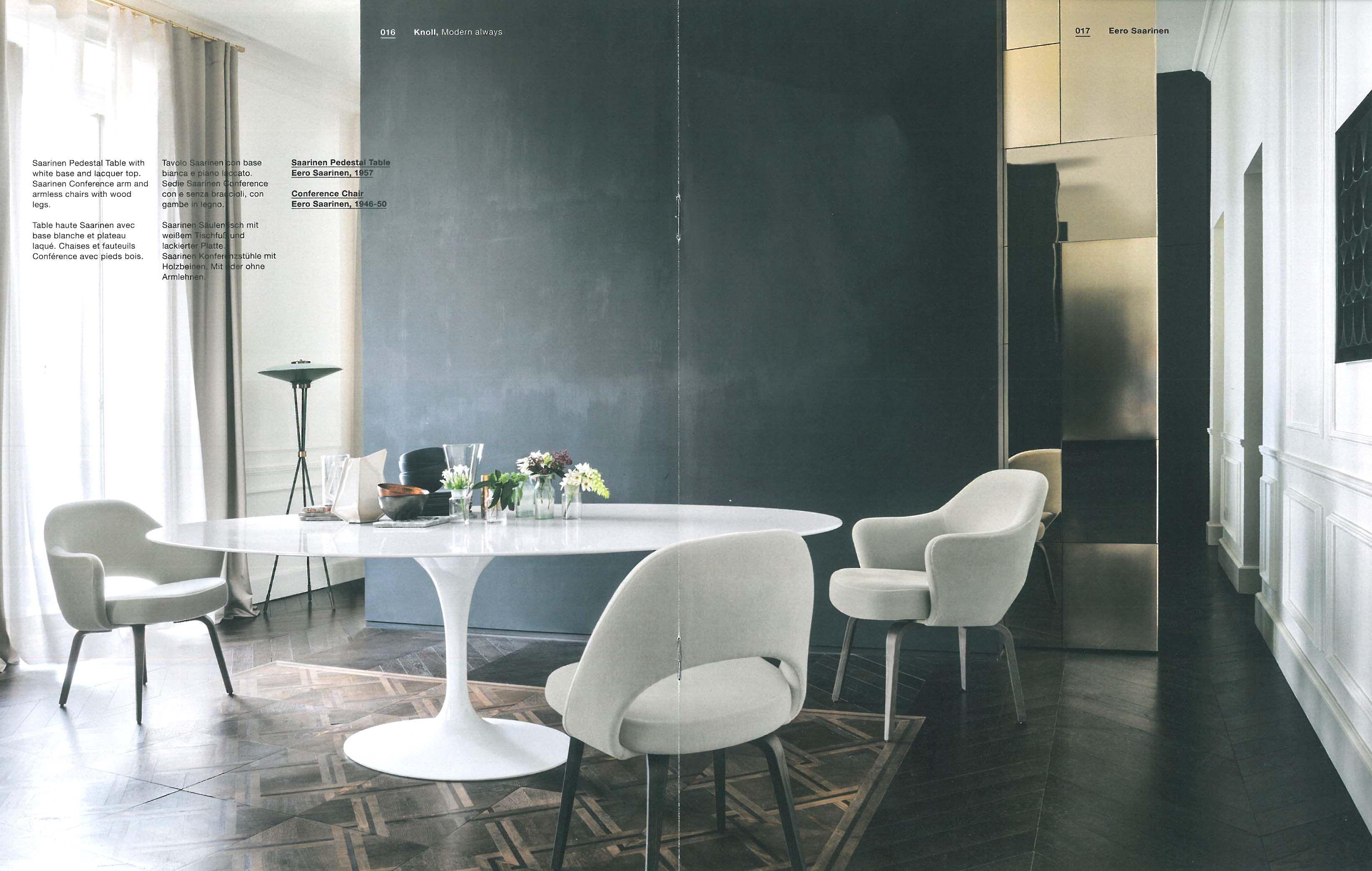 Table Florence Knoll Prix tulip table + saarinen executive chairs | saarinen dining