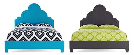 jonathan adler happy chic lacquer bed gray blue jcpenney
