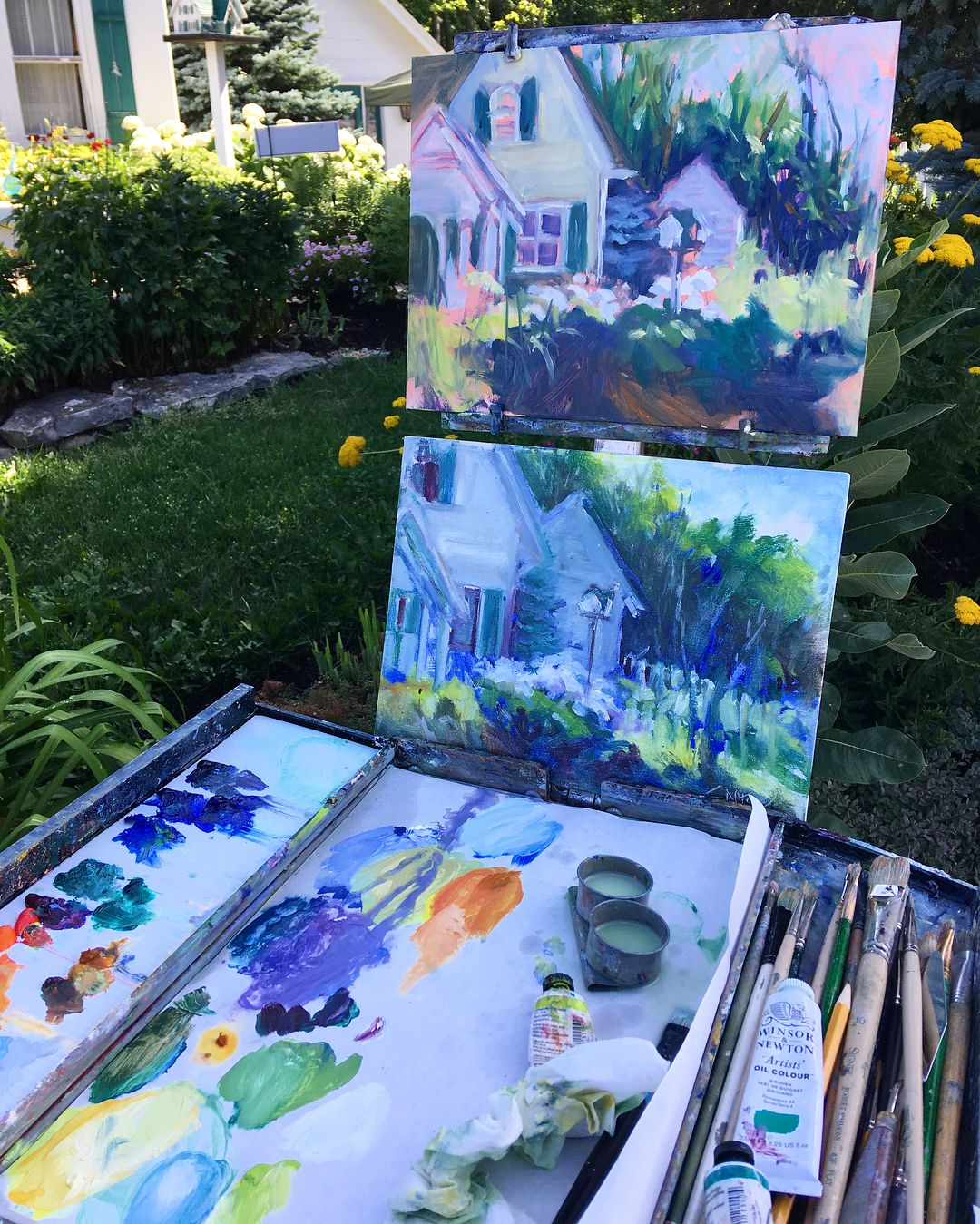 Door County Plein Air Festival Is Making Its Way To Sister Bay Watch The Quick Paint In Waterfront Park On Saturday From 9 Air Festival Door County Sister Bay