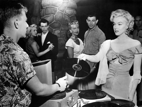 Marilyn chooses the music.