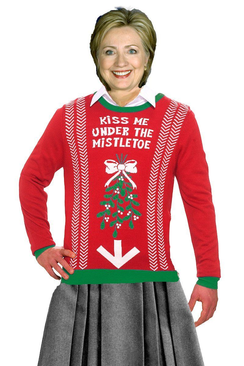 Ugly Christmas Sweaters: Kiss me Under the Mistletoe Sweater ...