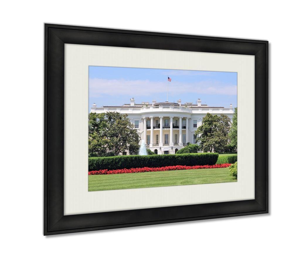 Framed Prints White House Wall Art Decor Giclee Photo Print In Black Wood Frame Soft White Matte Ready To Hang 16x20 Art In 2020 Framed Prints Frame Framed Art