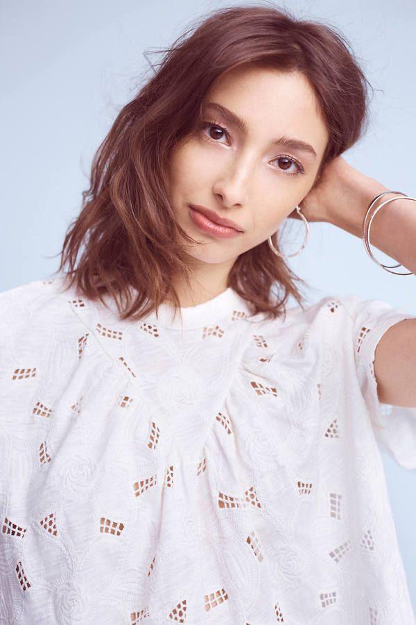 0f23b02612 Akemi + Kin Eyelet Mock Neck Top   Style   Pinterest   Mock neck ...