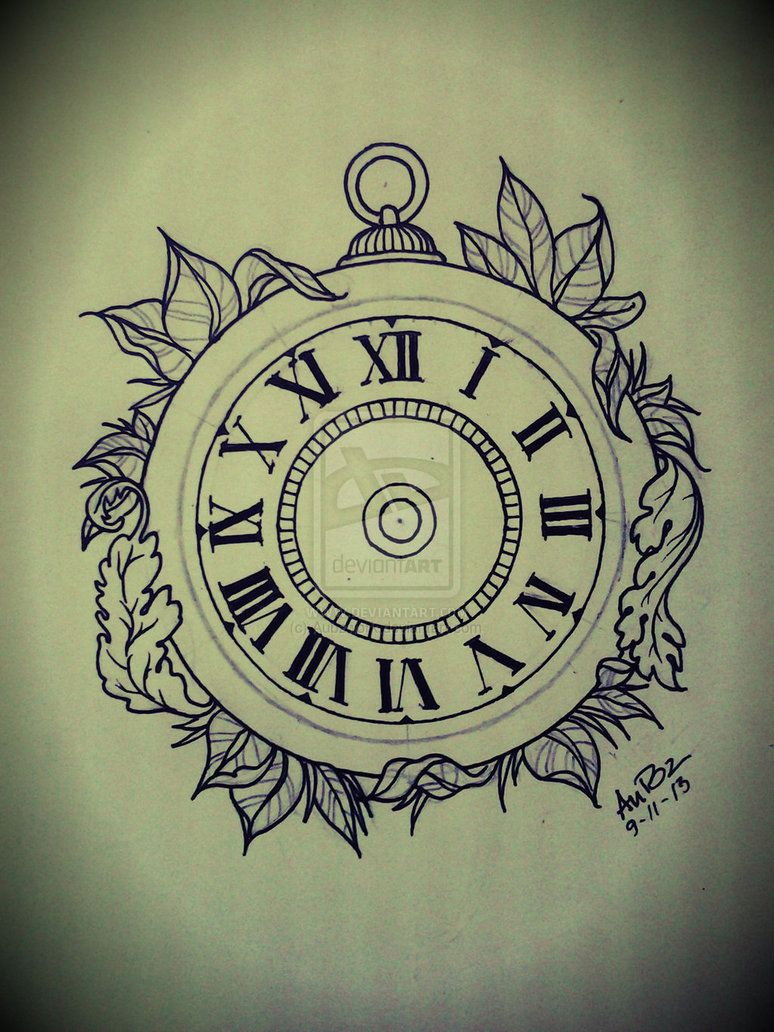 Broken Pocket Watch Tattoo Design broken pocket watch dr...