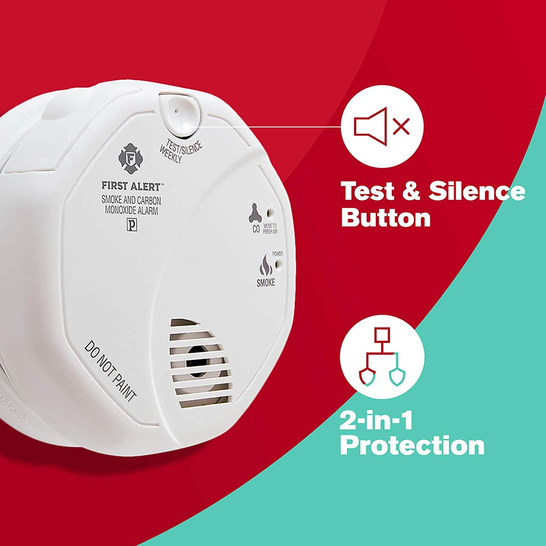 Smoke Detector And Carbon Monoxide Detector Alarm Carbon Monoxide Alarms Carbon Monoxide Detector Smoke Alarms