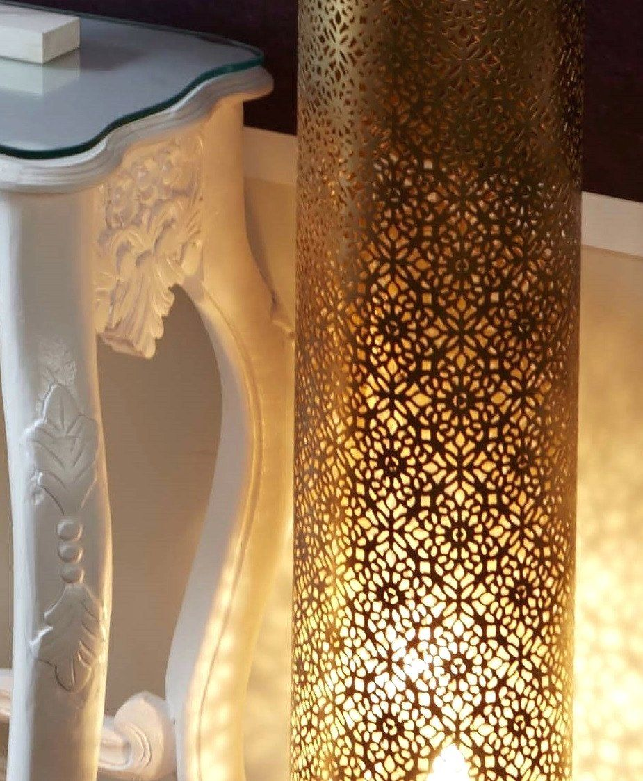 Floor Lamps Moroccan Style Tall Lamp Uk Orna Morocco Gold