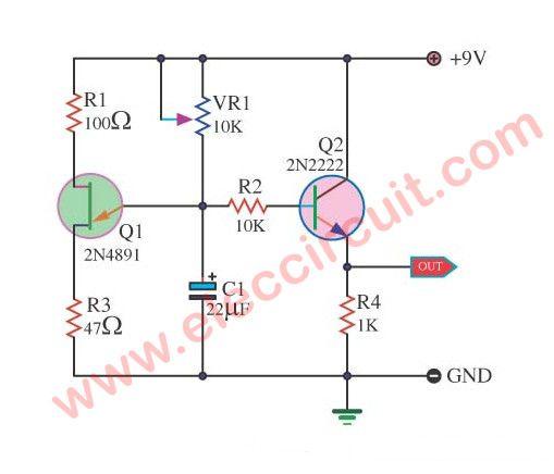 ramp generator circuit using 2n4891 fet in 2018 oscillators rh pinterest com