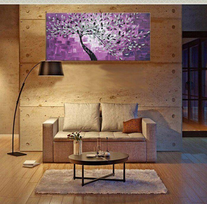 Wandbilder Wohnzimmer   33 Ideen, Wie Sie Die Wohnzimmerwände Mit  Wandbildern Dekorieren