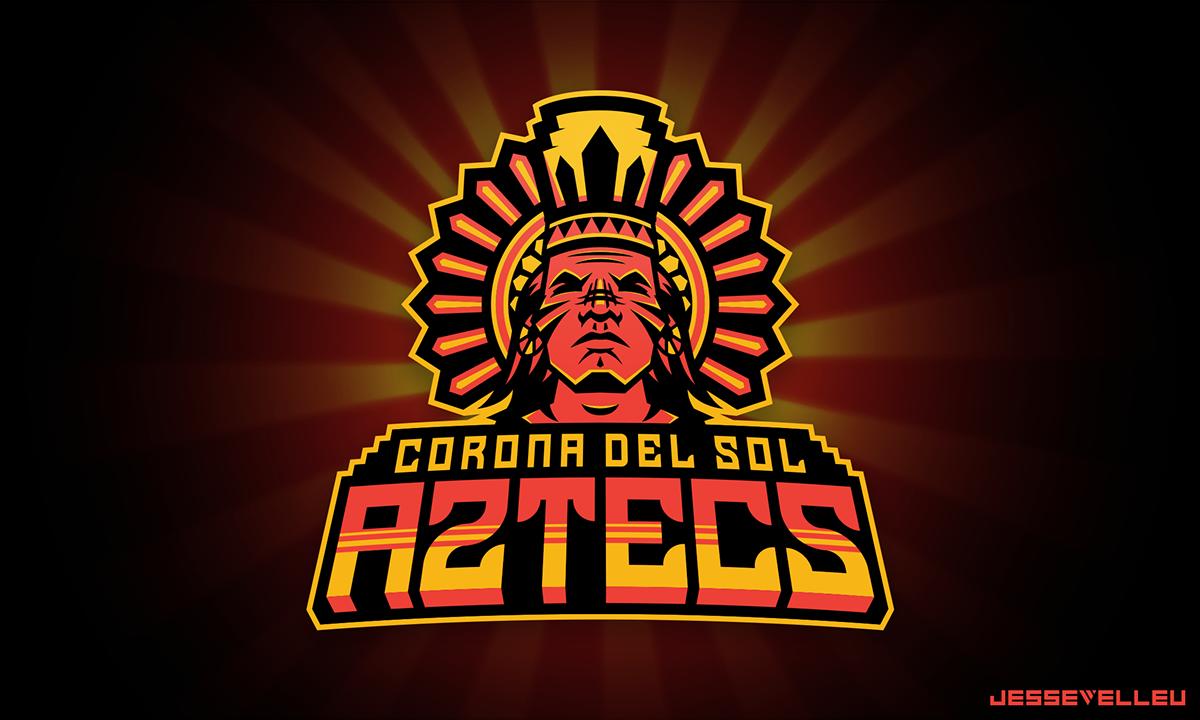 Corona Del Sol Aztecs On Behance Sports Logo Design Emblem Logo Logo Inspiration