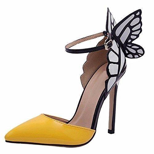 Zapatos negros con cordones de punta redonda formales Qiyun.z para mujer N3guHP
