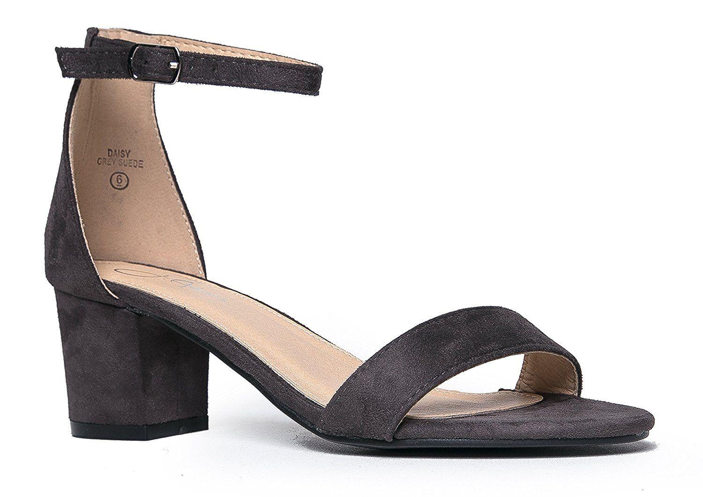 Daisy Mid Heel Sandal - ZOOSHOO | Heels, Ankle strap heels