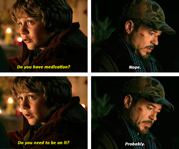 Tony Stark should be on Medication Iron Man 3 <---this scene cracked me up, lol