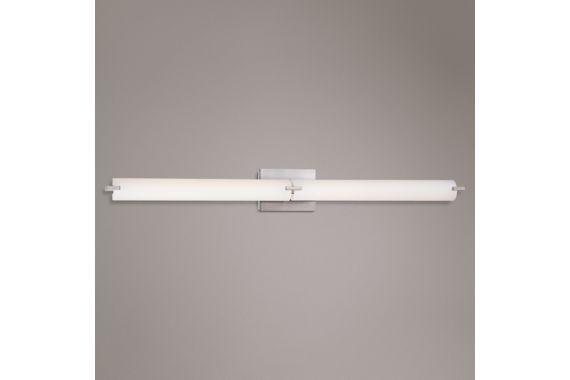 George Kovacs Modern Nickel LED InchW Bathroom Light - Kovacs bathroom light fixtures