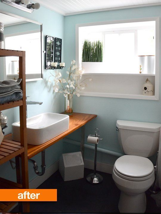 Before & After A Diy Bathroom Renovation  House Small Bathroom Cool Before And After Small Bathrooms Design Inspiration