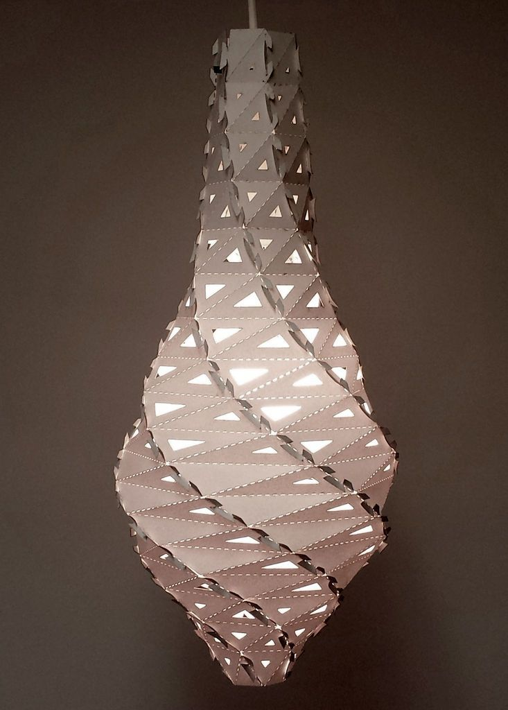Parametric Twisted Lamp by thee ever-fabulous Instructables. DIY genius! Resembles a creepy cocoon, neat-o...