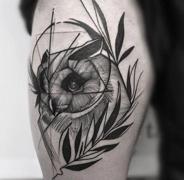Eule Tattoo Designs Bedeutung Geometricowl Skull Mysterious