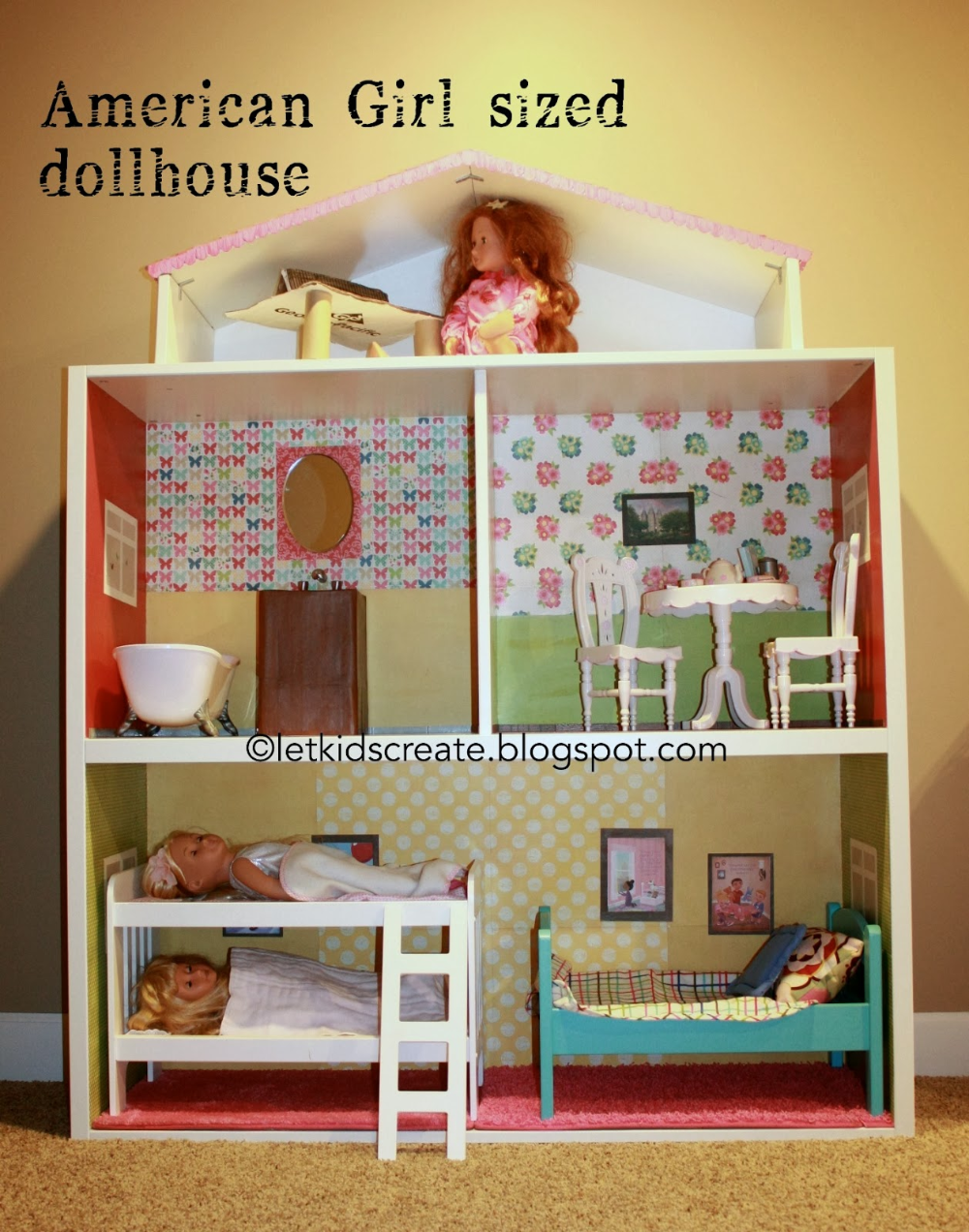American Girl Dollhouse Ikea hack