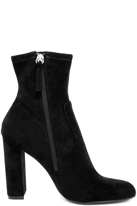 9a42437f686 Steve Madden Edit Black Suede High Heel Mid-Calf Boots   shoes ...