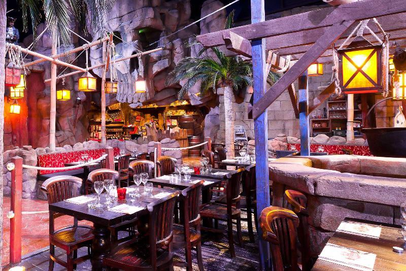 The decor magic pirates paradise restaurant odysseum