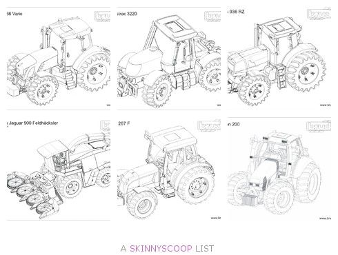 Tractor Colouring In Pages John Deere : Bruder tractor coloring pages jamolicious pinterest