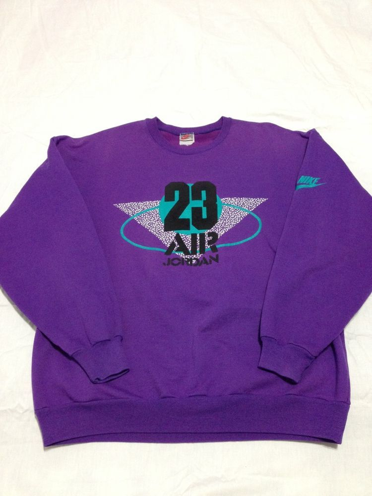 cd0e852bb60f VTG 80s 90s Nike Grey Tag Air Jordan Sweatshirt Jumpman Logo Wings Flight  Retro  Nike  SweatshirtCrew