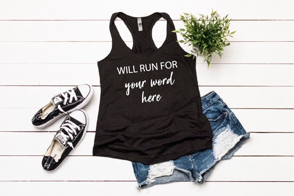 Will Run For Tank Top Triblend Soft Loose Fitting Tank Top