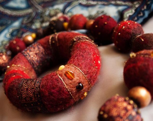 Валяние объемного браслета - Ярмарка Мастеров - ручная работа, handmade
