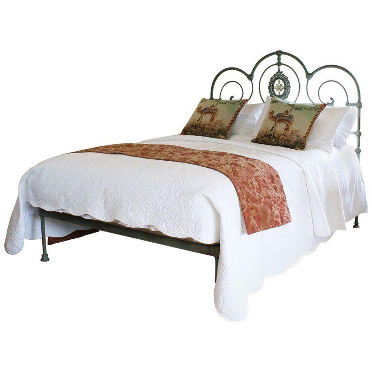 Decorative Platform Bed In Green Verdigris