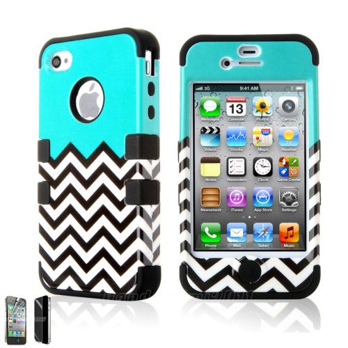 Luxury Colorful Hybrid Rugged Hard Back Case Cover Skin For Apple iPhone 4 4G 4S