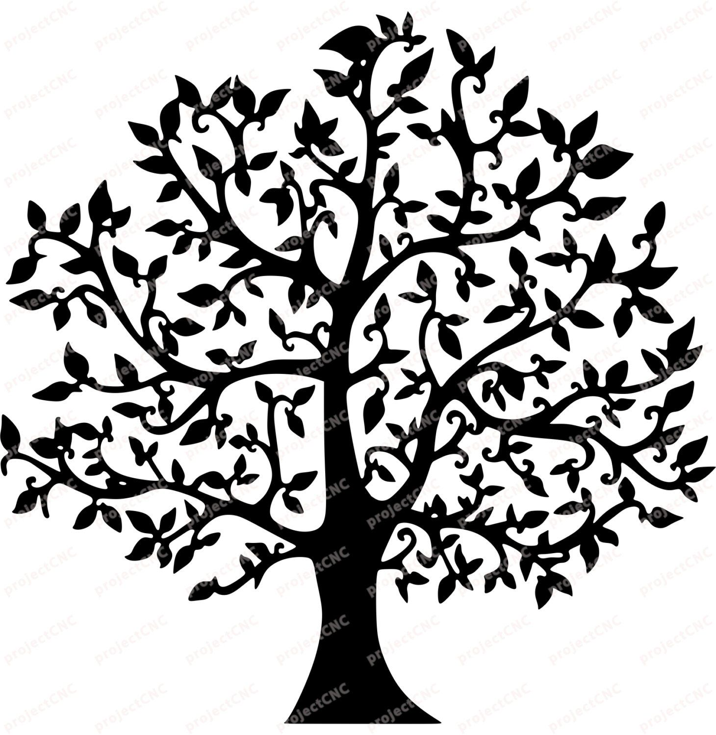 Wedding Tree Vector: Tree Natural Ivy Frame Ornament Wall Decoration 2d /Plan
