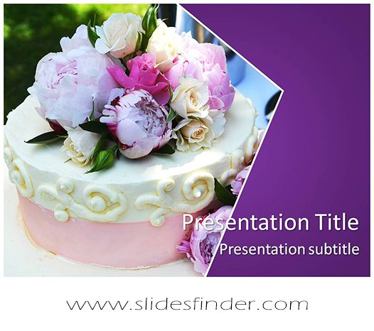 Create effective Wedding Cake #ppt #presentation with our #Free - wedding powerpoint template