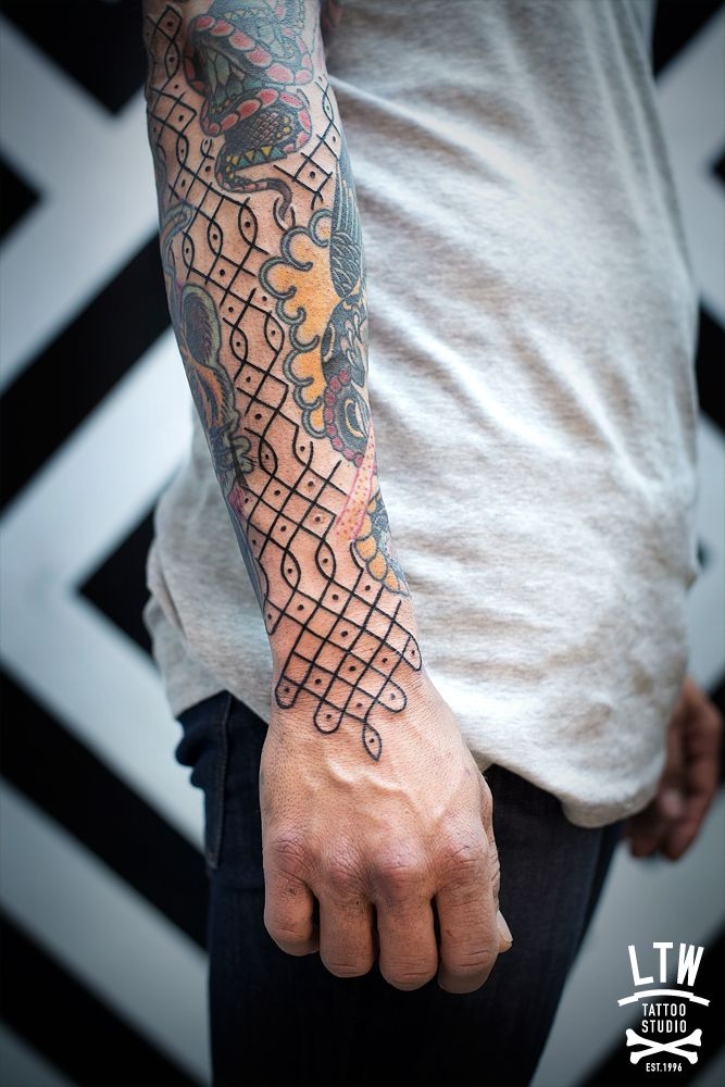 7617e6f67 Pattern by Manu. LTW Tattoo Studio. | Tattoos | Cool forearm tattoos ...