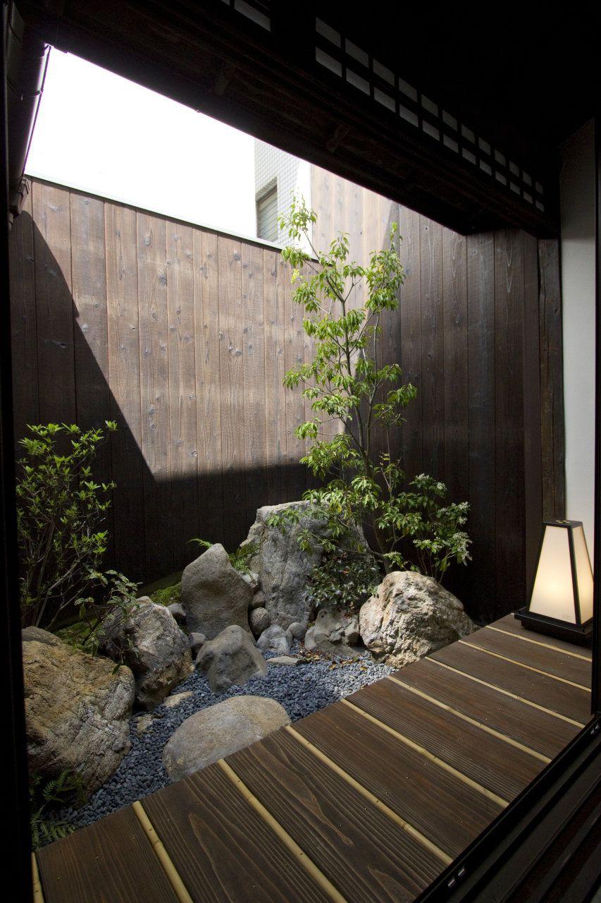 京都の貸切の宿泊施設 旅館 京宿家 開智あんず庵 小さな日本庭園