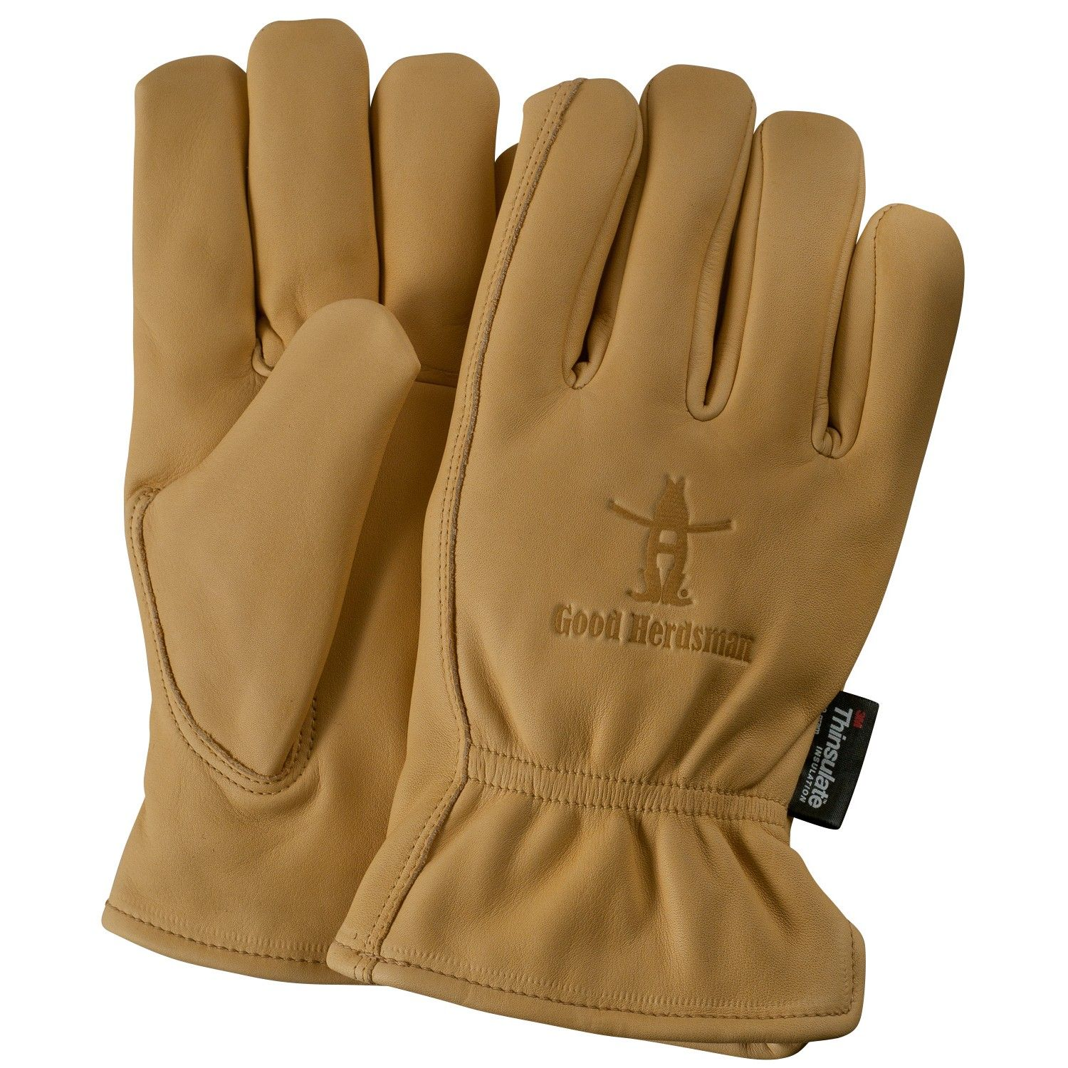 lined premium grain cowhide leather work gloves leather work