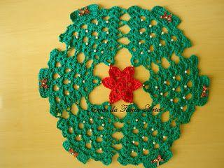 Toalhinha Em Croche Motivo Natal Natal Trico Crochet De Natal