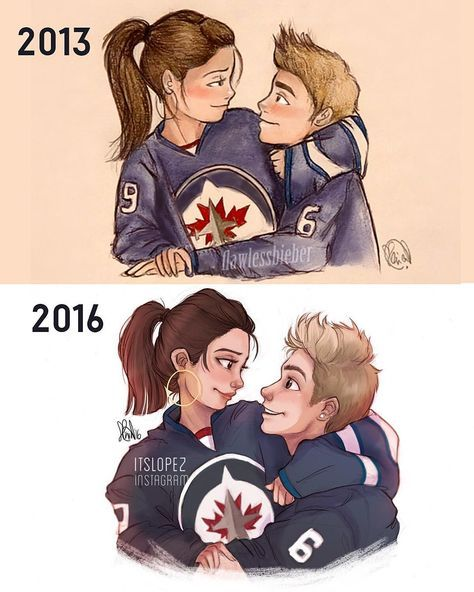 """Aaaand a little bit of a throwback... Still not quite sure if I made the top one in 2013 or 2012, but holy... Practise and dedication is all it takes, tbh…"""