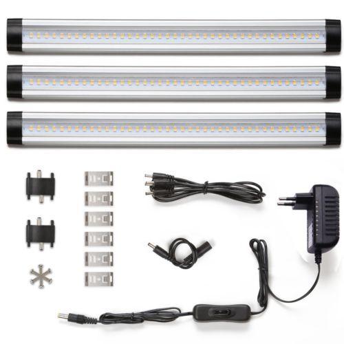 LE 12W LED Küchen Unterbauleuchten 4W*3 Panel Deluxe Set 900lm - unterbauleuchten k che led