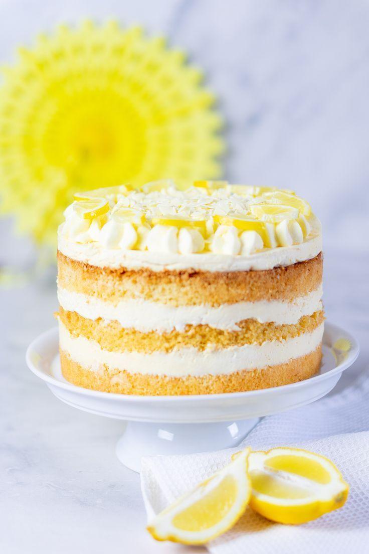 Zitronencreme Torte mit Lemon Curd | Mein Naschglück